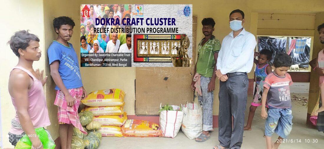 Relief Distribution Programme for 400 Dokra craft artisans